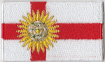 Yorkshire West Riding Embroidered Flag Patch, style 04